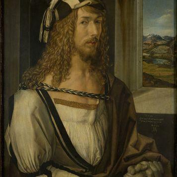 Albrecht Dürer, 1498. Sein berühmtes Selbstbildnis hängt im Prado in Madrid.